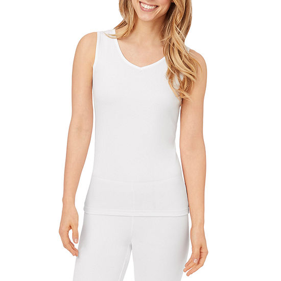 Cuddl Duds Climatesmart Womens-Tall Pajama Top V Neck