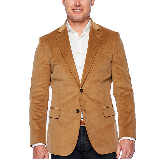 Stafford Corduroy Mens Slim Fit Corduroy Sport Coat