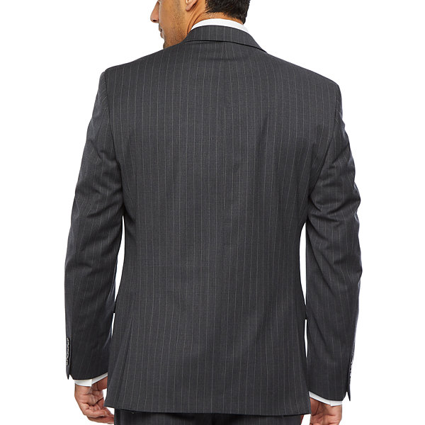 Collection by Michael Strahan  Mens Striped Stretch Classic Fit Suit Jacket