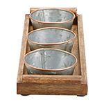 Mind Reader Wood Serving Tray