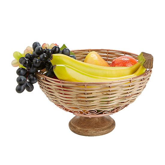 Mind Reader Small Decorative Fruit Bowl