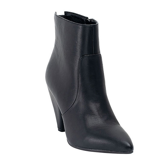 GC Shoes Womens Dion Cone Heel Booties