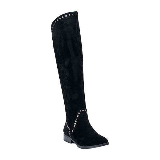 GC Shoes Womens Ridley Block Heel Over the Knee Boots