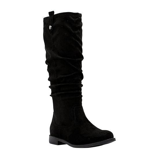 GC Shoes Womens Randi Slouch Boots Block Heel