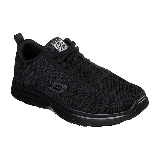 Skechers Mens Flex Work Shoes Round Toe