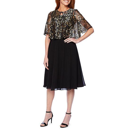 J Taylor Short Sleeve Lace Jacket Dress