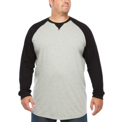 The Foundry Big & Tall Supply Co.-Big and Tall Mens Crew Neck Long Sleeve T-Shirt