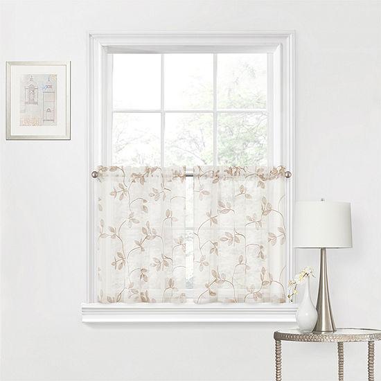Regal Home Meadow Rod-Pocket Window Tiers