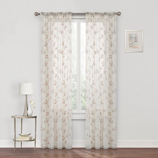 Regal Home Collections, Inc. Meadow Sheer Rod-Pocket Curtain Panel