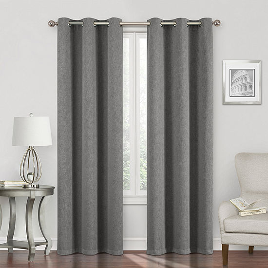Regal Home Sterling Energy Saving Blackout Grommet-Top Single Curtain Panel
