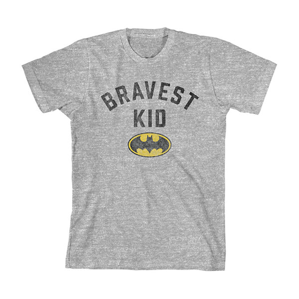 Boys Crew Neck Short Sleeve Batman Graphic T-Shirt-Toddler