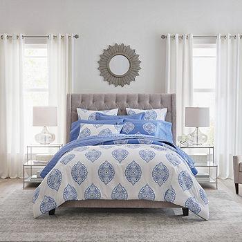 Liz Claiborne Classics Sadie 3 Pc Lightweight Reversible Comforter Set Color Blue Jcpenney