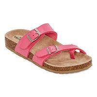 Deals on Arizona Fairhaven Womens Adjustable Strap Footbed Sandals