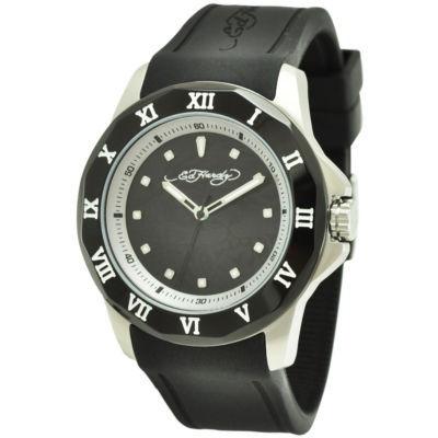Mens Ed Hardy® Roman Black Watch