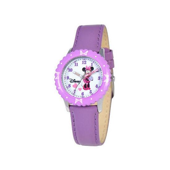 Disney Kids Time Teacher Minnie Leather Watch