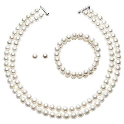 Womens 3-pc. White Jewelry Set