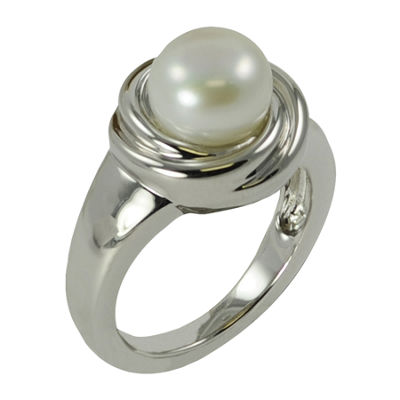 Sterling Silver Cultured Freshwater Pearl Ring