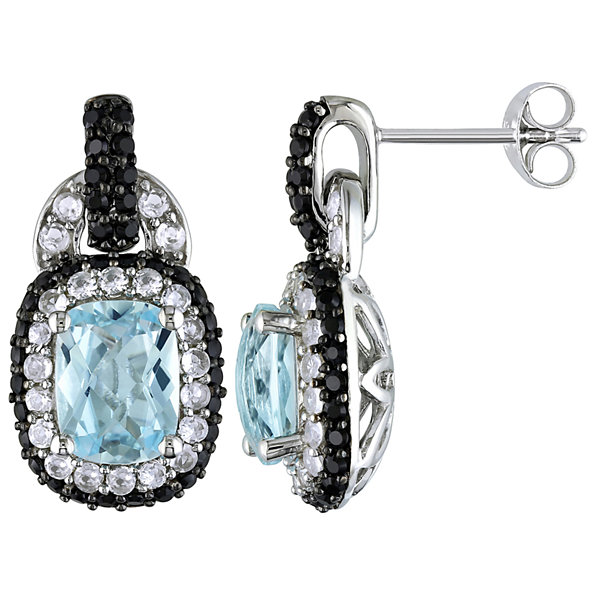 Sterling Silver Sky Blue Topaz Earrings