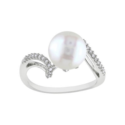 Freshwater Pearl & Diamond-Accent 10K Ring