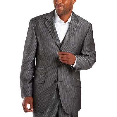 Steve Harvey® 3-Button Black Stripe Suit Jacket