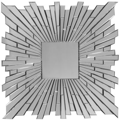Bang Sunburst Square Wall Mirror