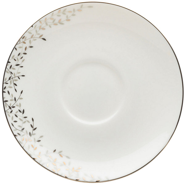 Mikasa® Shimmer Vine Bone China Latte Saucer
