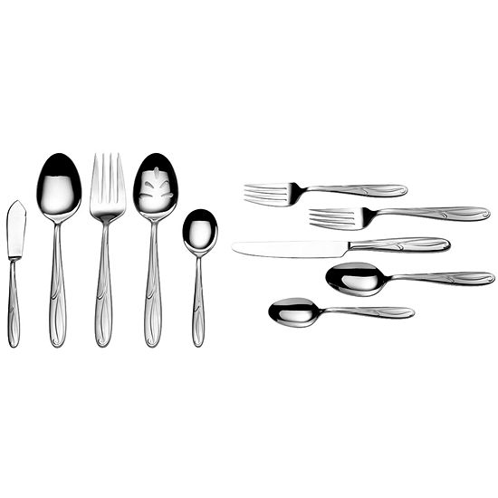 Mikasa® Cocoa Blossom 65-pc. 18/10 Stainless Steel Flatware Set