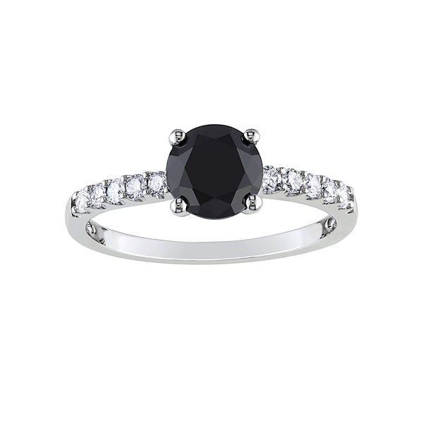 Midnight Black Diamond 1 1/4 CT. T.W. White & Color-Enhanced Black Diamond Engagement Ring