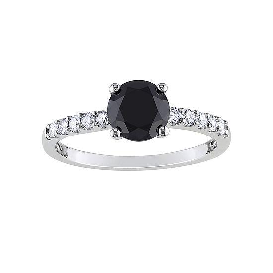 Midnight Black Diamond 1 1/4 CT. T.W. White & Color-Enhanced Black Diamond Engagement Ring