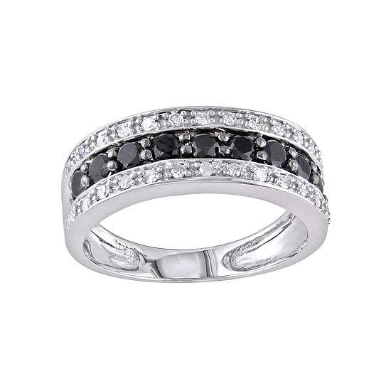 Midnight Black Diamond 1/6 CT. T.W. Diamond & Color-Enhanced Black Diamond-Accent Wedding Band