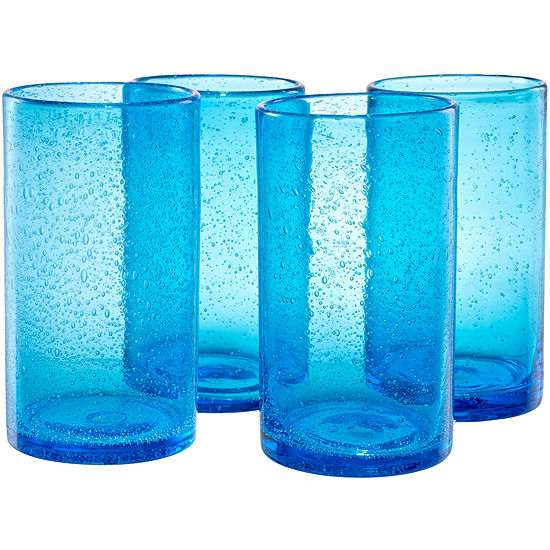 Iris Set of 4 Highball Glasses