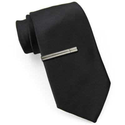 JF J. Ferrar® Slim Tie with Tie Bar