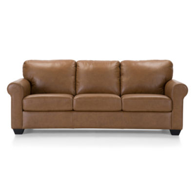 Leather Possibilities Roll Arm Sofa