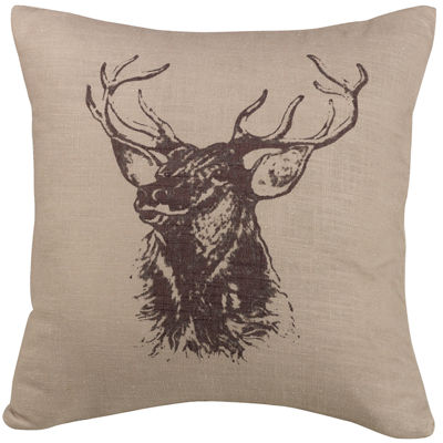 HiEnd Accents Elk Square Decorative Pillow