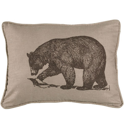 HiEnd Accents Briarcliff Bear Square Decorative Pillow