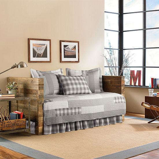 Eddie Bauer Fairview Plaid 5 Pc Daybed Cover Set