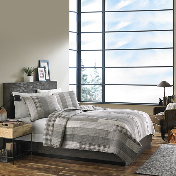 Ed Bauer Fairview Grey Quilt Set