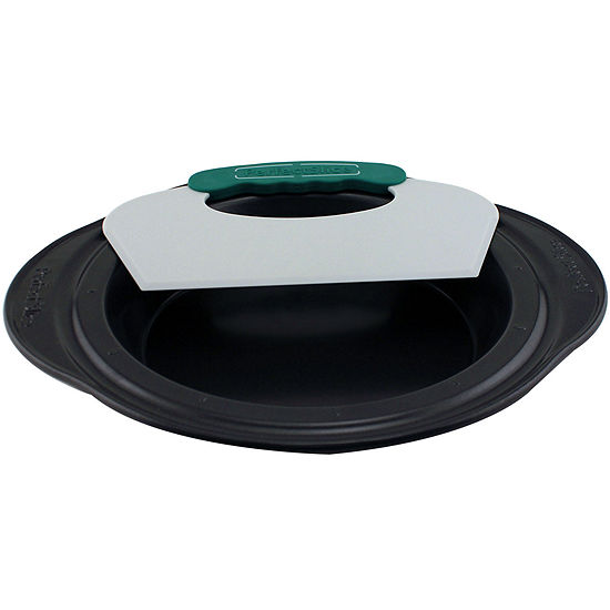 """BergHOFF® Perfect Slice 9"""" Pie Pan with Slicing Tool"""