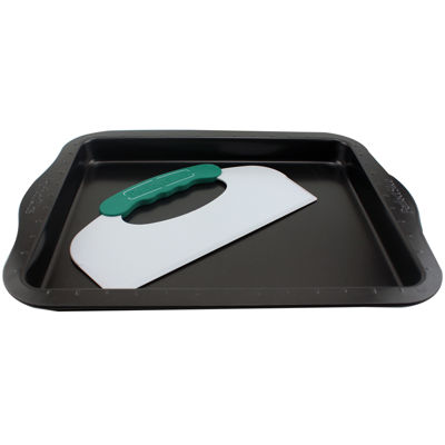 "BergHOFF® Perfect Slice 14x11"" Cookie Sheet with Slicing Tool"