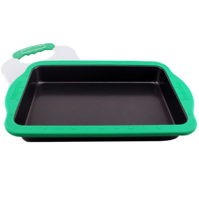 "BergHOFF® Perfect Slice 13x9"" Baking Pan with Silicone Sleeve and Slicing Tool"