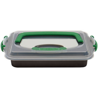 "BergHOFF® Perfect Slice Covered 13x9"" Baking Pan with Slicing Tool"