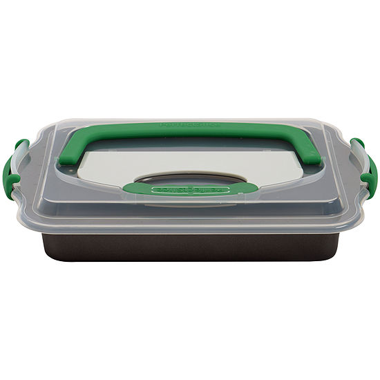 """BergHOFF® Perfect Slice Covered 13x9"""" Baking Pan with Slicing Tool"""