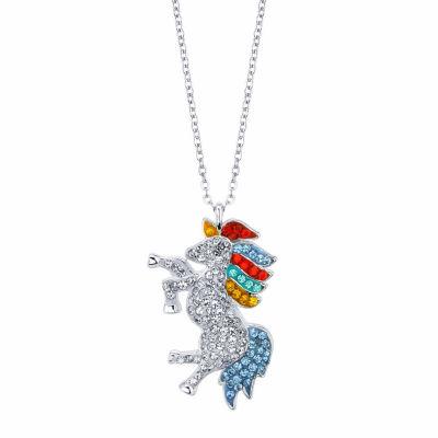 Sparkle Allure Womens Multi Color Round Pendant Necklace