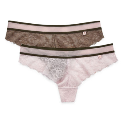 Danskin® 2 Pack Lace Cheeky Panty