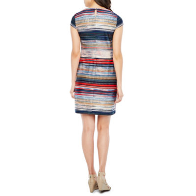 R & K Originals Short Sleeve Shift Dress