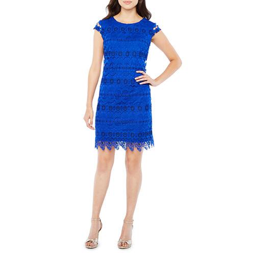 R & K Originals Short Sleeve Shift Dress