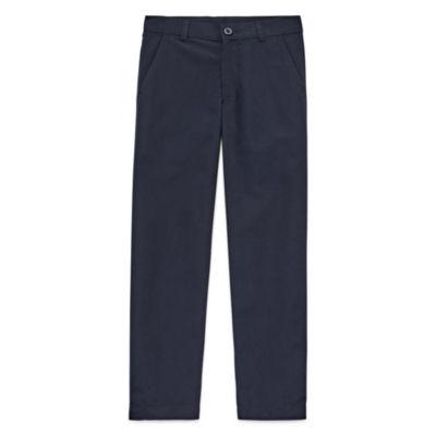 Izod Exclusive Boys Slim Flat Front Pant-Preschool Slim