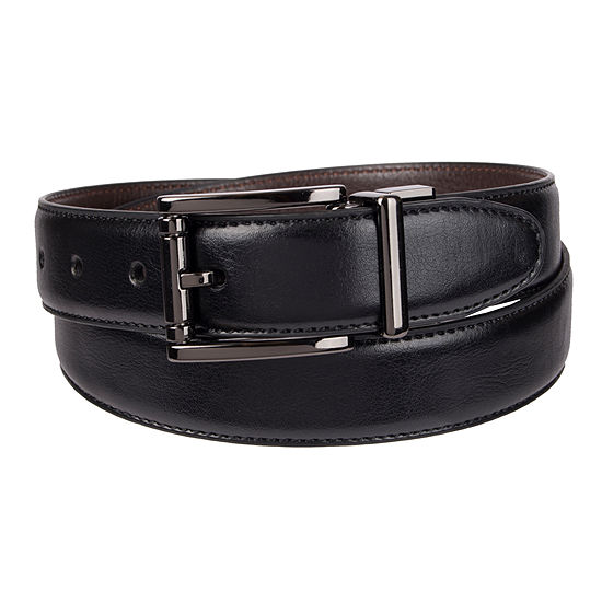 Stafford® Feather Edge Reversible Leather Belt