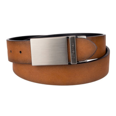 JF. J Ferrar® Reversible Belt with Plaque Buckle
