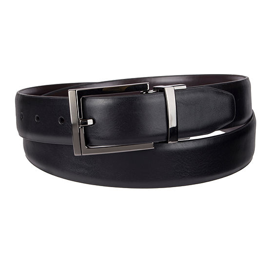 Collection By Michael Strahan Reversible Dress Men's Belt with Metal Keeper